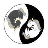 2018 04 02_unicorn Yin Yang иллюстрация вектора