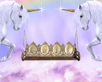 unicornhjul Arkivbild
