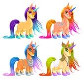 Unicorni del bambino per fortuna, protezione ed ispirazione Fotografia Stock