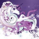 Unicornio blanco Imagenes de archivo