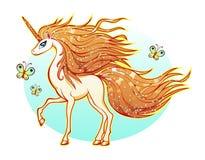 Unicornio blanco Imágenes de archivo libres de regalías