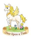 Unicornio blanco fabuloso Imágenes de archivo libres de regalías