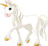 Unicornio blanco hermoso Imagen de archivo