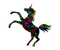 Unicornio colorido decorativo 3 Imagenes de archivo