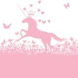 Unicornio con el corazón y el amor ilustración del vector