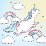Unicornio de la magia de la historieta Imagenes de archivo