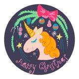 unicornio de la Navidad libre illustration