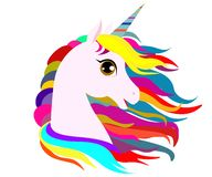 Unicornio de la web en un fondo stock de ilustración