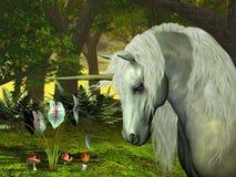 Unicornio de oro ilustración del vector