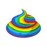 Unicornio del arco iris de la mierda Animal legendario fantástico del Turd ilustración del vector