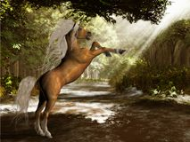Unicornio del bosque libre illustration