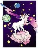 Unicornio del espacio Imagen de archivo libre de regalías