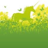 Unicornio en el bosque ilustración del vector