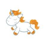 Unicornio en el fondo blanco Imagen de archivo libre de regalías