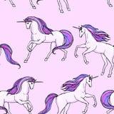 Unicornio inconsútil Imagen de archivo libre de regalías