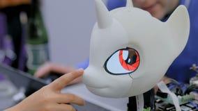 Unicornio lindo del robot almacen de metraje de vídeo