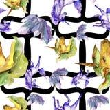 Unicornio lindo Ilustración de la acuarela dibujo del watercolour Modelo inconsútil del fondo Textura de la impresión del papel p ilustración del vector