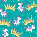 Unicornio lindo mágico ilustración del vector