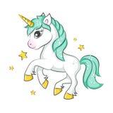 Unicornio mágico lindo stock de ilustración