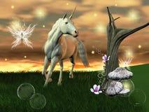 Unicornio maravilloso stock de ilustración