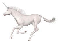 Unicornio mágico - galopando Imagen de archivo libre de regalías