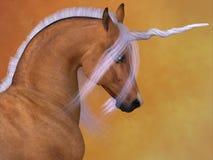 Unicornio rojo del Dun Imágenes de archivo libres de regalías