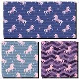 Unicornio rosado de la silueta rosa del camuflaje Modelo incons?til stock de ilustración