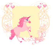 unicornio rosado hermoso. Imagen de archivo libre de regalías
