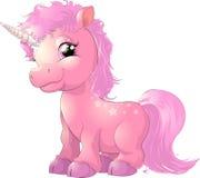Unicornio rosado hermoso Imagen de archivo libre de regalías