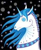 Unicornio similar a una muñeca Imagen de archivo
