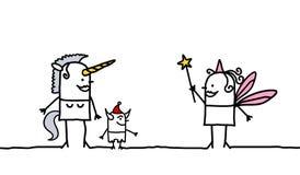 Unicornio y hada Imagen de archivo libre de regalías