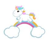Unicornio y un arco iris Fotografía de archivo libre de regalías