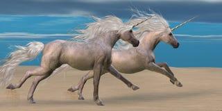 Unicornios stock de ilustración