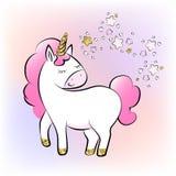 Unicornios de la historieta Imagen de archivo libre de regalías