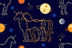 Unicornios en el cielo ilustración del vector
