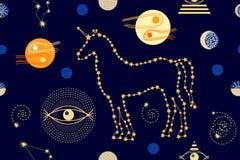 Unicornios en el cielo libre illustration