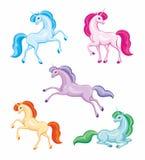 Unicornios hermosos fijados stock de ilustración