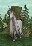 Unicorno bianco Fotografie Stock Libere da Diritti