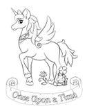 Unicorno bianco favoloso Fotografia Stock
