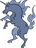 Unicorno blu araldico Immagine Stock Libera da Diritti