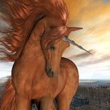 Unicorno bruciato del cielo Fotografia Stock Libera da Diritti