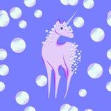 Unicorno con la criniera e la coda delle bolle royalty illustrazione gratis