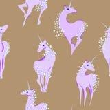 Unicorno con la criniera e la coda delle bolle Fotografia Stock