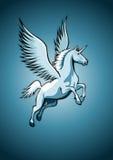 Unicorno con le ali Illustrazione Vettoriale