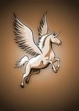 Unicorno con le ali Fotografie Stock Libere da Diritti