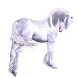 Unicorno d'argento Fotografie Stock Libere da Diritti