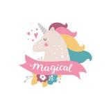Unicorno del bambino di vettore Fotografia Stock
