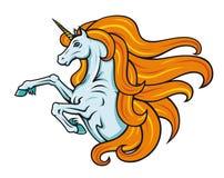 Unicorno del fumetto illustrazione di stock