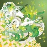 Unicorno della primavera illustrazione vettoriale