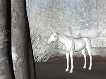 Unicorno di inverno Fotografia Stock